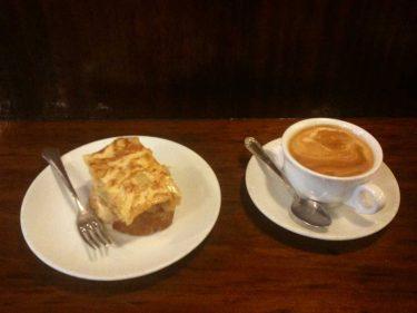 Pintxo y café del bar Kirol (foto: Cuchillo)
