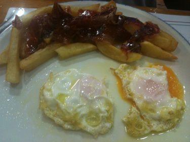 Huevos camperos en Erribera.