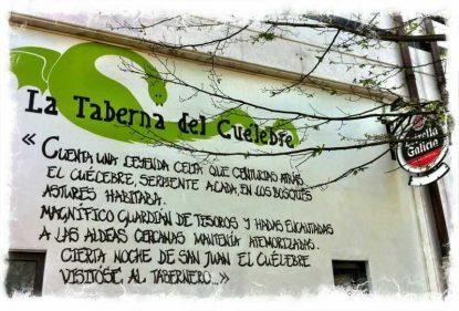 Mural de La Taberna del Cuélebre, donostiarra ella (foto: Uve)