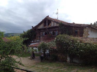 Espectacular fachada, con sus pavos reales en el alero, del Aspaldiko (foto: cuchillo)