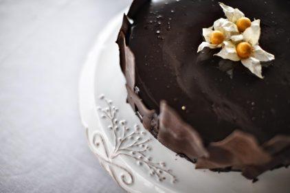 Bonita tarta de chocolate del restaurante El Caserío.