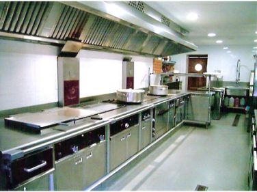 Cocina del restaurante La Chata.