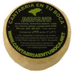 Quesuco de nata de Cantabria en tu Boca.