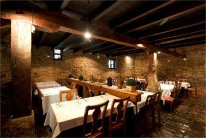Detalle de comedor de restaurante Solaetxe.