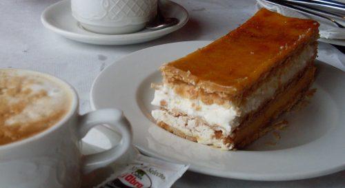Tarta milhoja de Urrestarazu, en Cervecera El Puerto (foto: Susana).