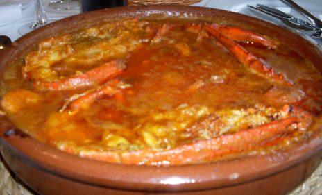 La caliente cazuela del arroz con bogavante (foto: Susana).