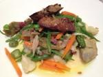 Verduras salteadas con foie-gras (f: Igor Cubillo)