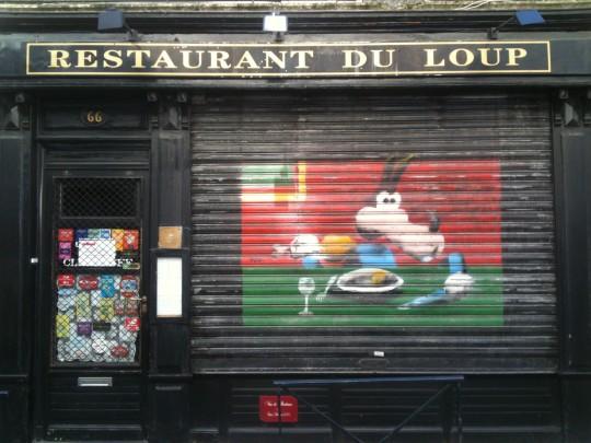 Simpática fachada del Restaurant du Loup, en Burdeos (foto: Cuchillo)