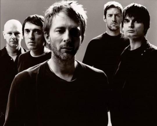 Imagen promocional de Radiohead, con Thom Yorke al frente.