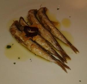 Las anchoas, en Cachetero (foto: Primo)