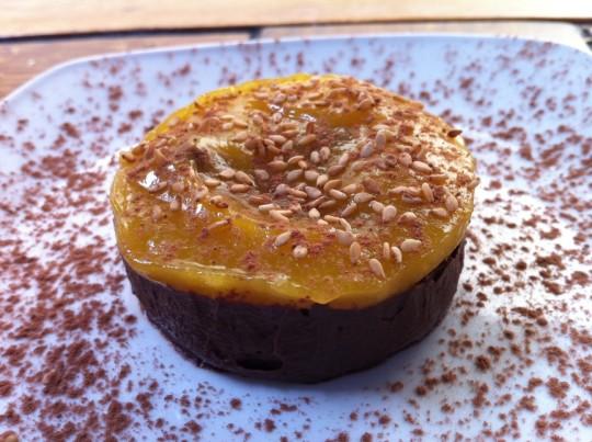 Chocolate y naranja, de La Cuchara de San Telmo (foto: Cuchillo)
