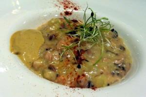 Falso risotto de pulpo y patata, en Aizian (foto: María Mora)