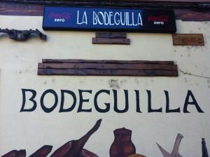 Detalle de la fachada de La Bodeguilla (f: María Mora)
