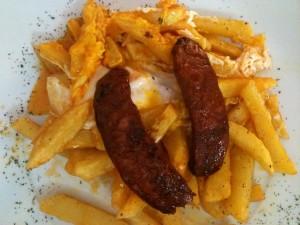 Huevos con patatas y chorizo (foto: Igor Cubillo)