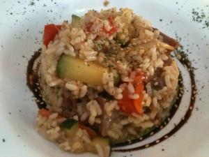 Risotto, del menú del día de Las Palmeras (foto: Igor Cubillo)