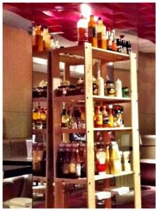 Surtido de salsas de Holly Burger (foto: Uve)