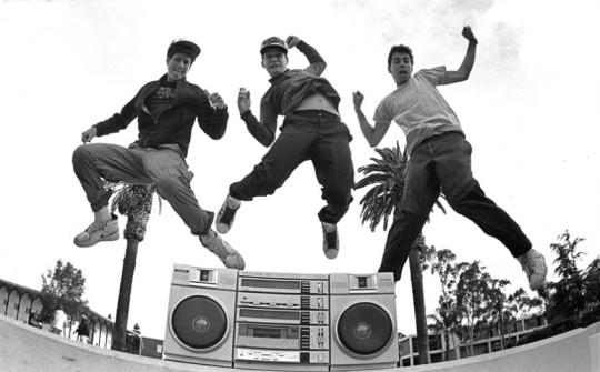Beastie Boys, haciendo un poco el tontorrón.