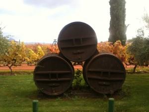 Barricas en el jardín de Villa Lucía (f: Igor Cubillo)