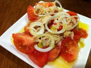 Ensalada de tomate, de Casa Urola (foto: Cuchillo)