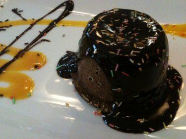 Volcán de chocolate, de Gran Hotel Puente Colgante (foto: Cuchillo)