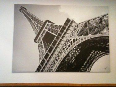 Torre Eifel, detalle de la decoración del Gran Hotel Puente Colgante (foto: Cuchillo)