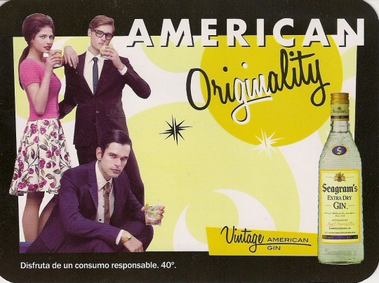 Seagram's, vintage american gin.