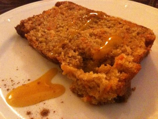 Tarta de zanahoria, en Tedone (foto: Cuchillo)