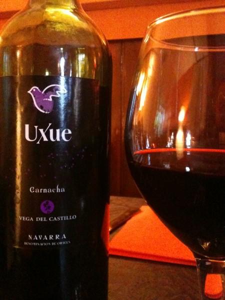 Uxue, garnacha de Navarra, en Tedone (foto: Cuchillo)