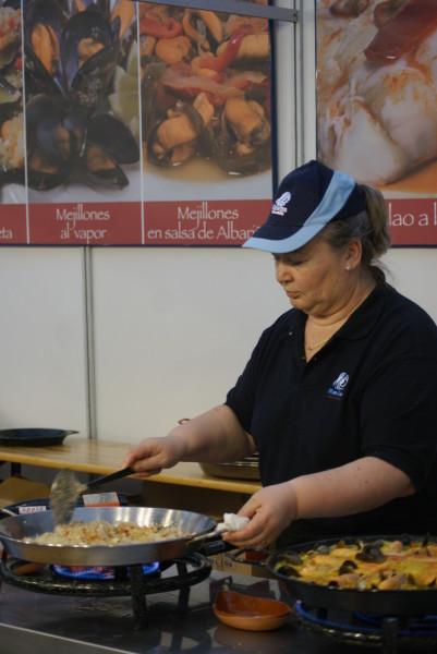 El secreto del arroz de marisco, buenos ingrediente y buena mano
