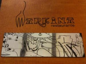 Tapa de la carta del Markina (foto: Cuchillo)
