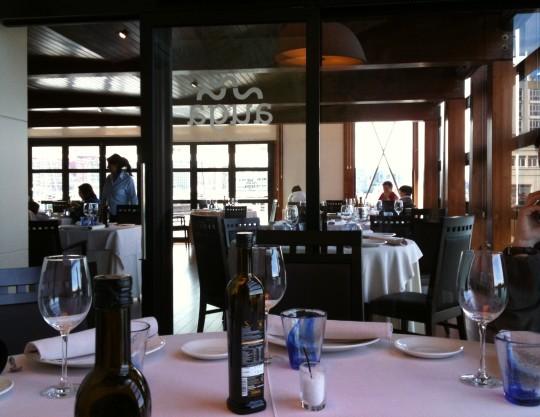 Una vista del comedor del restaurante Auga (foto: Cuchillo)