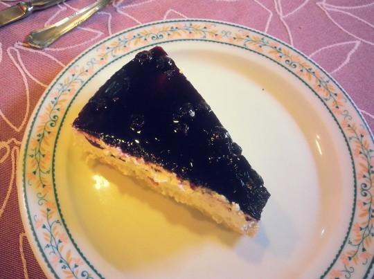 De postre, tarta de queso, en Casa Brandariz (foto: Araceli Viqueira)