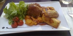 Muslo de pavo, en Le Coq d'Or (foto: Susana)