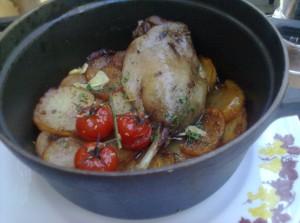 Confit de pato, en Le Coq d'Or (foto: Susana)
