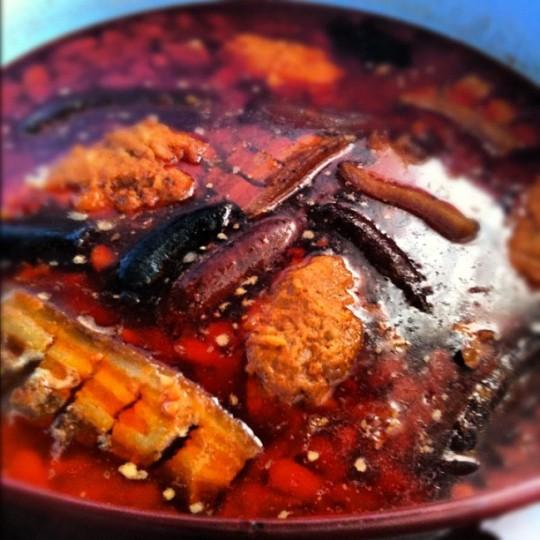 Fabada con pantrueque en Los Carriles, preparada por Mari Jose.