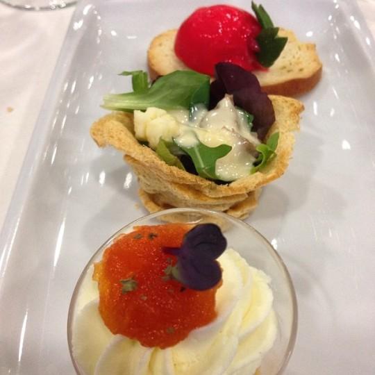 quesos asturianos en nueva expresión, unos platos elaborados por la Escuela de Hostelería de Llanes
