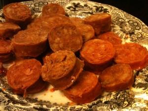 Chorizo de la olla, en Asador de Aranda (f: Cuchillo)