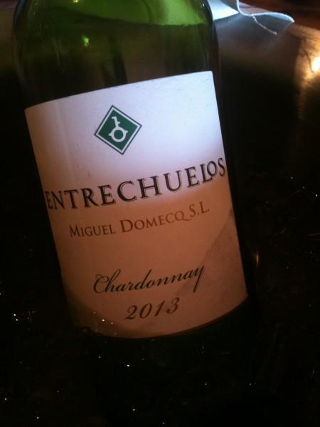 Entrechuelos, chardonnay de Miguel Domecq (foto: Cuchillo)
