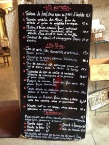 La carta de Le Bistrot du Moulin (f: Jarvisey)