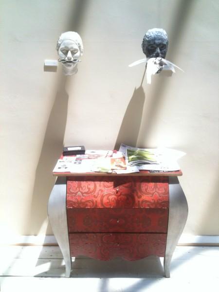 Un rincón escultórico de Ojopatio (foto: Cuchillo)