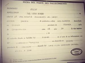 certificado defunción julian del hoyo buron