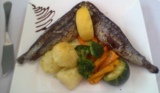 Sardinas, en restaurante A Muralha (foto: O.C.E.)