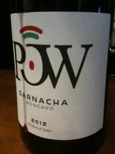 Etiqueta de Pow, vino aragonés (foto: Uve)