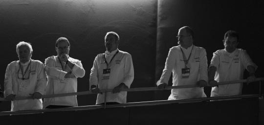 Arzak, Arbelaitz, Arguiñano, Subijana y Berasategui, distraídos (foto: Coconut)