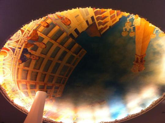 Detalle del techo del comedor de Zazpi (foto: Cuchillo)