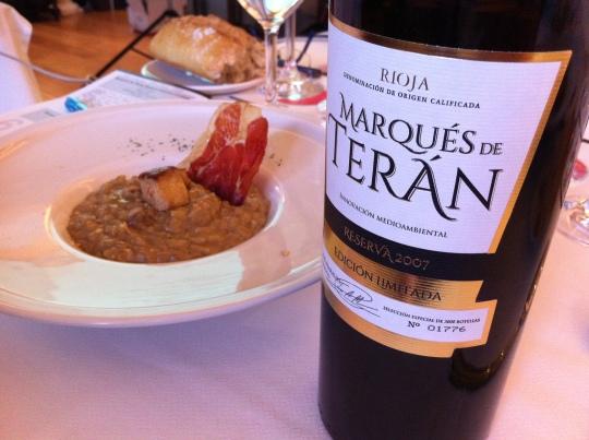 Marqués de Terán reserva Edición Limitado, todo un gran reserva (foto: Cuchillo)