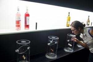 Una visitante descubre aromas en PradoRey (foto: M.A. Muñoz)