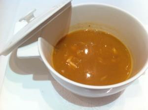 La cazuela individual de sopa, en Agorregi (foto: Cuchillo)