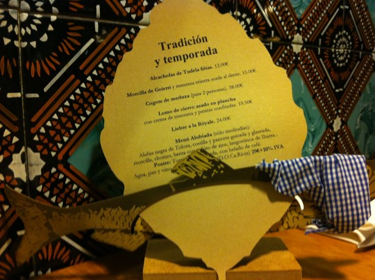 La carta de temporada, en Bodegón Alejandro (foto: Cuchillo)