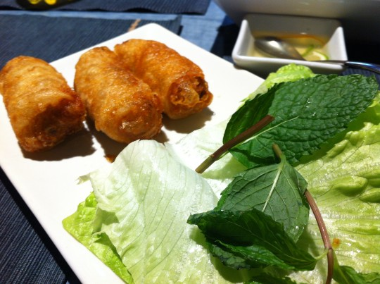 Rollitos de nem rellenos de pollo y cerdo, en Hanoi (foto: Cuchillo)